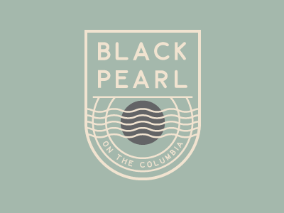 Black Pearl Logo Concept badge columbia river brand pearl black logo