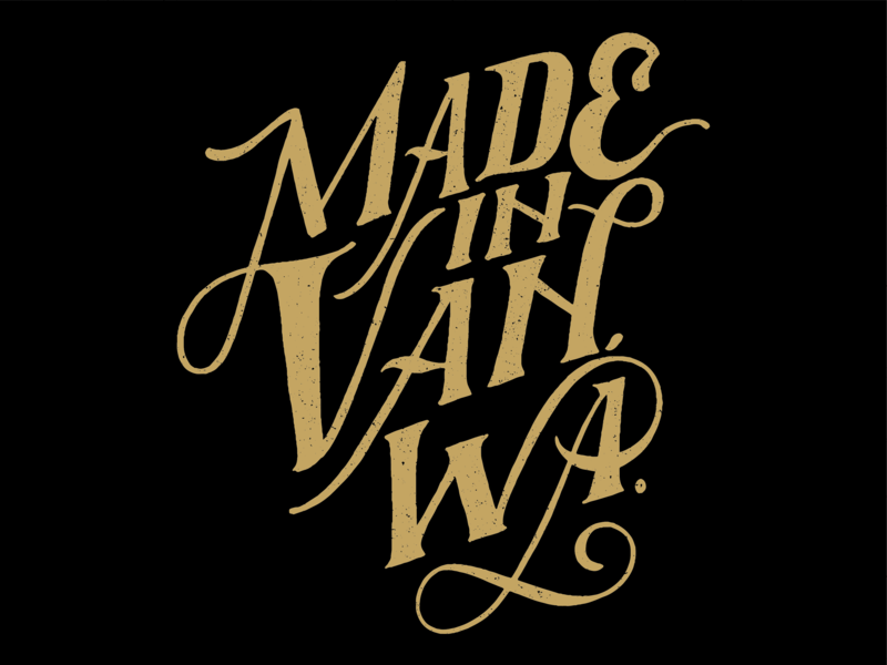 Made in Vancouver Wa washington vancouver vector design handlettering brand lettering illustration