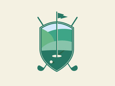 Golf Badge Illustration