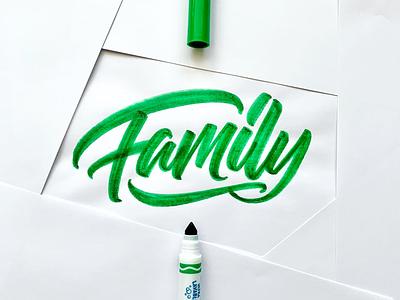 Family art graphic design typography calligraphy illustration lettering handlettering