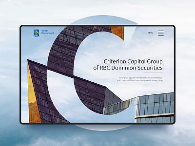 Criterion Capital Group web design branding graphic design