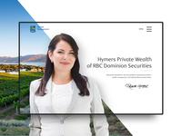 Hymers Private Wealth web design branding design graphic design