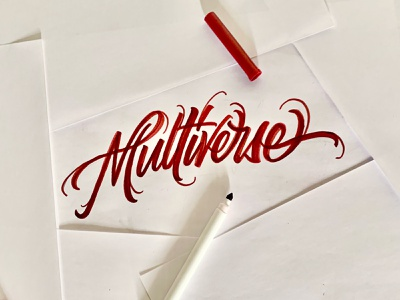 The Multiverse marvel wandavision illustration graphic design lettering typography handlettering