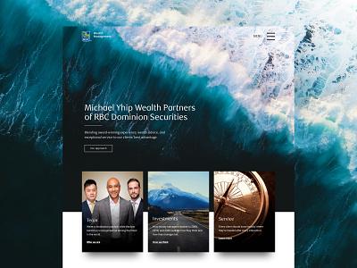 Michael Yhip Wealth Partners graphic design ux ui web design