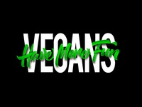 Hand Lettered Logos: Vegans Have More Fun