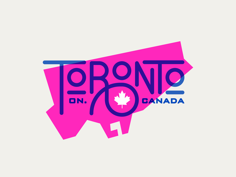 Toronto branding logo illustration lettering city toronto graphic design