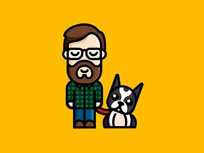 Adam and Frito dog cartoon vector art design graphic design illustration