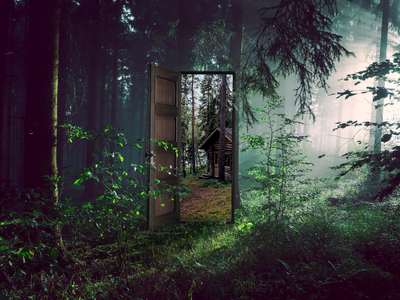 You'll Find Your Way anxiety art design cabin forest woods graphic design nature