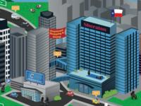 Downtown Dallas cartoon map