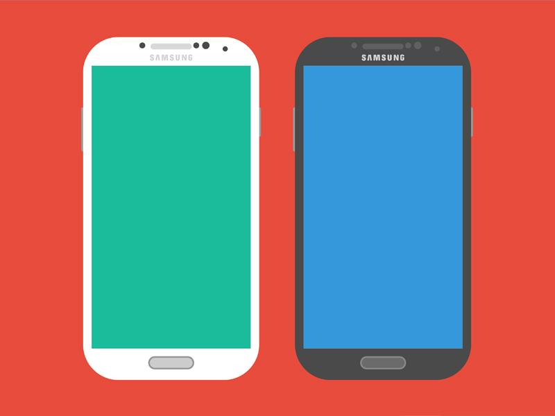 Galaxy S4 - Sketch android flat flat ui sketch ui freebie download