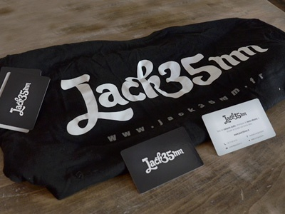 Jack 3.5mm / Shirt & business cards shirt business card monochromous