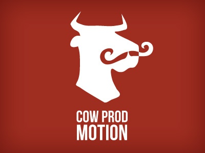 Cow Prod Motion cow red video mustache