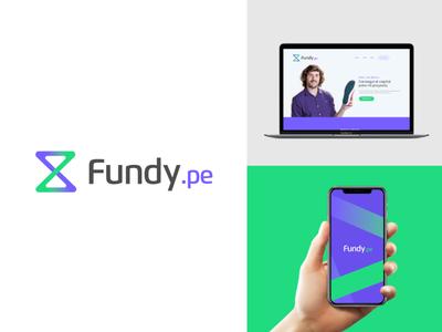 Fundy | Fintech project typography anagram illustration peru money app isotipe logotipe logo modern green logo brand purple green fintech app fintech money