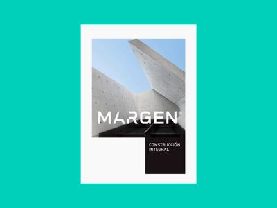 Margen Constructora architecture green construction illustration logotipe brand logo peru branding