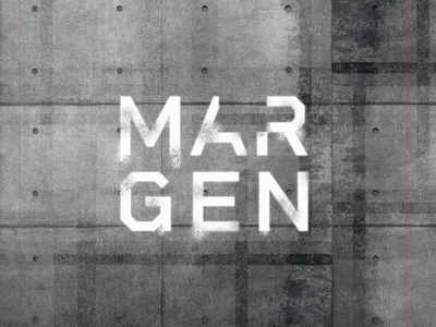 MARGEN Constructora stencil font stencil letter typography anagram branding construction constructor logotipe peru logo brand