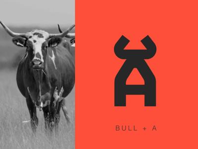 Monogram A Bull illustration brand peru logotipe monogram logo branding lettermark letter a letter bulls bull gym icon monogram logo