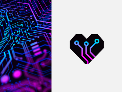 Heart Mother Board repair maintenance mother board hearth innovation electronic design logo pro new logo design new logo illustration logotipe logo