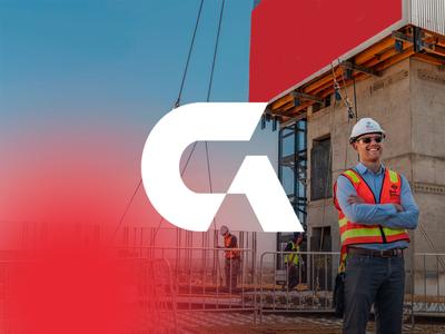 G Construction illustration logotipe peru brand branding logo