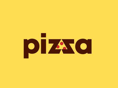 Pizza food typography brand peru anagram illustration branding pizza logotipe logo