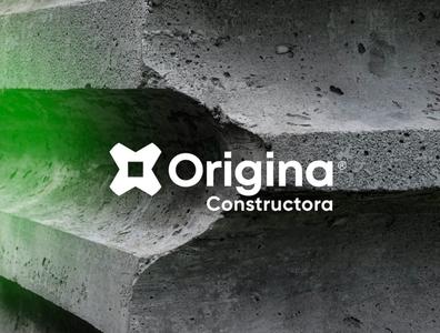 Origina Constructora construction logo pretty anagram typography architecture constructor construction logotipe logo peru brand branding