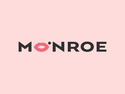 Monroe beauty salon women spa beauty marilyn monroe marilyn animal art typography anagram illustration branding logotipe peru logo brand