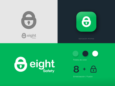 Eight Safety typography animal art letter peru illustration branding logo design lettering 8 eight green brand logotipe logo