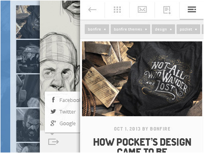 Pocket - A minty-fresh WordPress theme clean crisp ios android wp mobile touch smartphone design