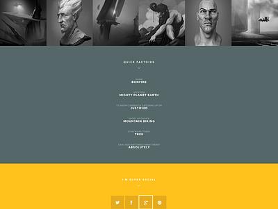 Smash theme profile page colorful smash wordpress clean profile flat social gallery contact form responsive wp bonfire themes