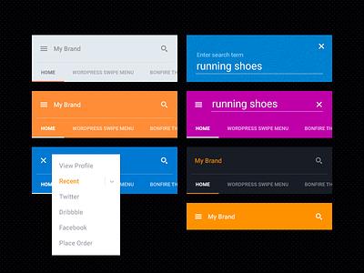 Tactile, a material design menu wordpress menu material design menu plugin mobile menu iphone menu android menu menu search search form swipe menu