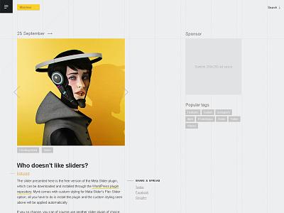 Mynt sidebar slider personal theme blog wordpress theme wordpress