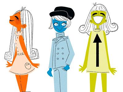 The Mods fashion kid lit childrens illustration mid century design mid century modern mid mod illustration