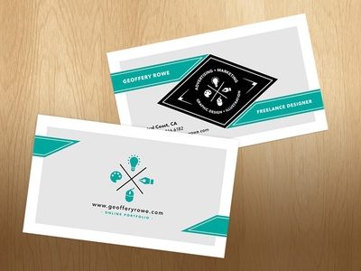 Personal Business Card business card graphic designer freelance designer