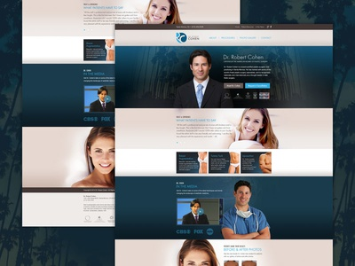 Medical Website Design ux ui medical plastic surgery website
