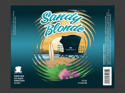 Beer Label Concept beach package design beer label