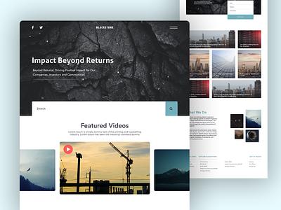 Blackstone Web UI branding design website design clean ux murjikneli gagi design webdesign web ui