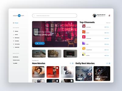 Adjaranet Web Redesign cinema design cinema website design clean movie ux ui webdesign web