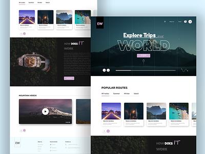 Explore World Design world travel website design clean design ui ux webdesign web