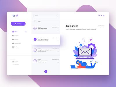 Simple Email UI email template email design email website design clean murjikneli gagi ux ui design webdesign web