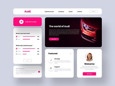 Audi web design clean branding website design murjikneli gagi ui ux design webdesign web