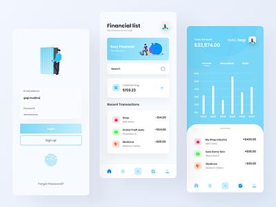 Finance App Design clean design ux ui  ux uiux ui app ui finance mobile ui mobile app designer application app design app