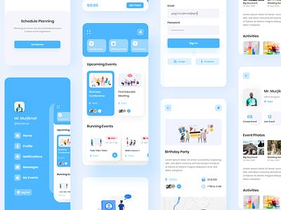Event App Design design illustration event app event clean ux ui application app design app