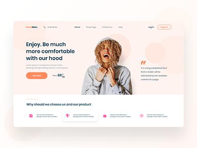 HoodMan UI Design branding website design web webdesign clean design ux ui