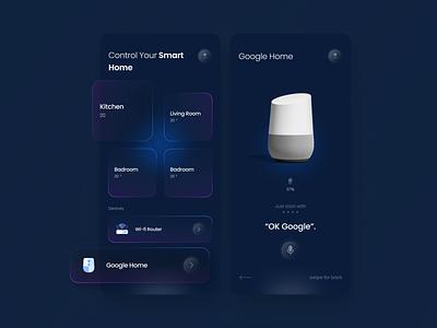 Smart Home Design smarthome smart mobile app design glassmorphism glass mobile ui mobile clean gagi design uiux ux ui