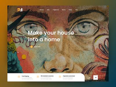 RiaBid Web design murjikneli gagi artist artwork art website design webdesign web clean design ux ui