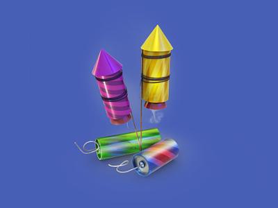 Fireworks 3Dicon fireworks boom illustration icon 3dicon 3d