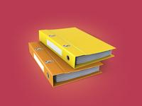Office folders 3Dicon
