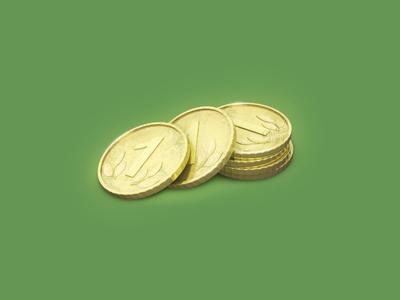 Gold Coin 3Dicon