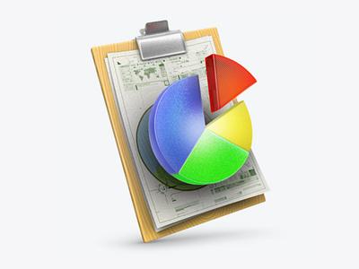 Statistics 3Dicon writhbord wood percent graph diagrams statistics stat paper icondesigner documents icondesign illustration 3dicon 3d icon