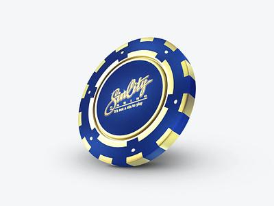 Casino  Chip 3Dicon internetcasino gambling money gold chipicon chip casinoicon casino design icondesigner icondesign illustration 3dicon 3d icon