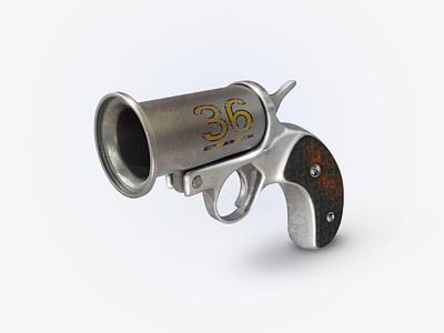 Pistol 3Dicon gear armor weapon pistolicon boom design icondesigner icondesign illustration 3dicon 3d icon